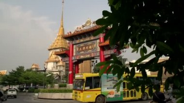 Phra Maha Mondop Wat Traimitr Witthayaram — Stock Video
