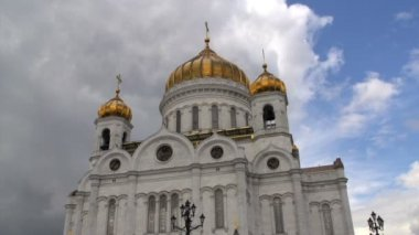 Cathedral of christ the saviour — Video Stock