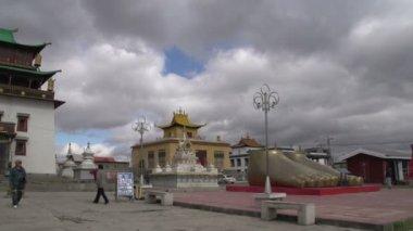 Gandan Monastery in Ulaan Bataar — Stock Video