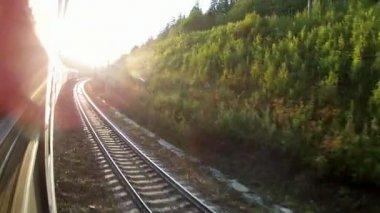 Ferrovia transiberiana — Vídeo stock