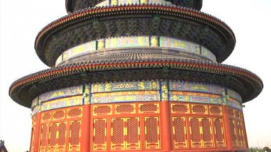 Tilt to the Temple of Heaven — Stock Video