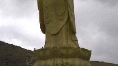 Golden Buddha in Ulaanbaatar — Stockvideo