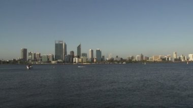 Skyline Perth capital Western Australia — Stock Video