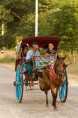 Horse cart in Myanmar — Stock Photo