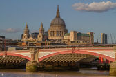 Blackfriars Bridge and St. Paul's Cathedral — Stock Photo