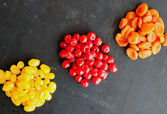 Dried fruits on black background  — Stock Photo