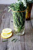 Lemon rosemary freshness — Stock Photo