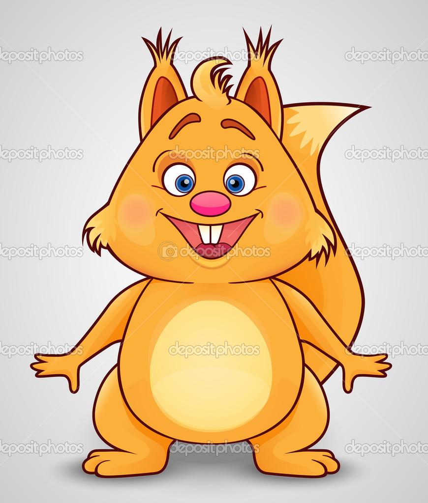 微笑的可爱松鼠 — 图库矢量图片#46548881