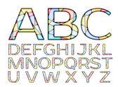 Mosaic Coloured Font — Vector de stock