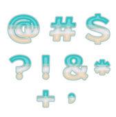 Symboles de la plage — Vecteur