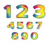 Mesh numbers — Vector de stock