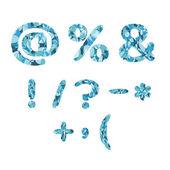 Mosaic symbols — Vector de stock
