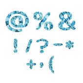 Mosaic symbols — Stockvektor