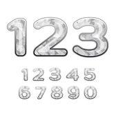 Diamond numbers — Stock Vector