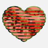 Watermelon heart — Stock Vector