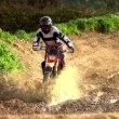 Motocross Mud Bath Super Slow Motion — Stock Video