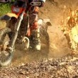 Motocross Through Mud Super Slow Motion — Stock Video