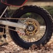 Motocross Wheel Spin Super Slow Motion — Stock Video