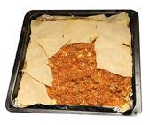 Cook homemade lasagna — Stock Photo