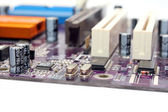 Part of the motherboard — Stock Photo