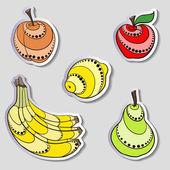 Fruit Stickers — Stock Vector