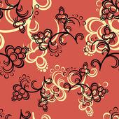 Red Flower Pattern — Stock Vector