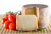 Pecorino and tomato — Stock Photo