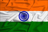 India flag on a silk drape waving — Stock Photo