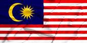 Malaysia flag on a silk drape waving — Stock Photo