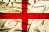 England gunge flag on a silk drape waving — Stock Photo