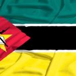 Mozambique flag on a silk drape waving — Stock Photo #51252993