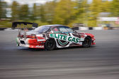 Drift racing bil — Stockfoto