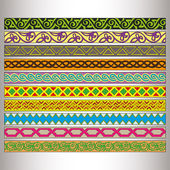 Ribbon motif Tatars — Stock Vector