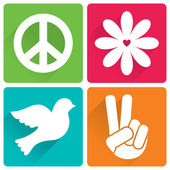 Flat design, peace and antiwar theme — Stock Vector