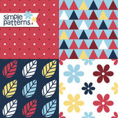 Simple Patterns — Stock Vector