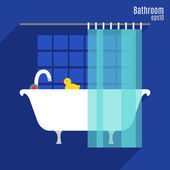 Illustration of bathroom — Stock Vector