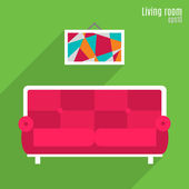 Illustration of living room — Stock Vector