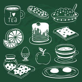 Breakfast icon — Stock Vector