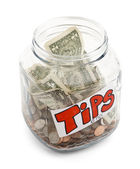 Tip Jar — Stock Photo