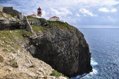 Algarve, Lighthouse in Cape Saint Vincent, Portugal — Photo