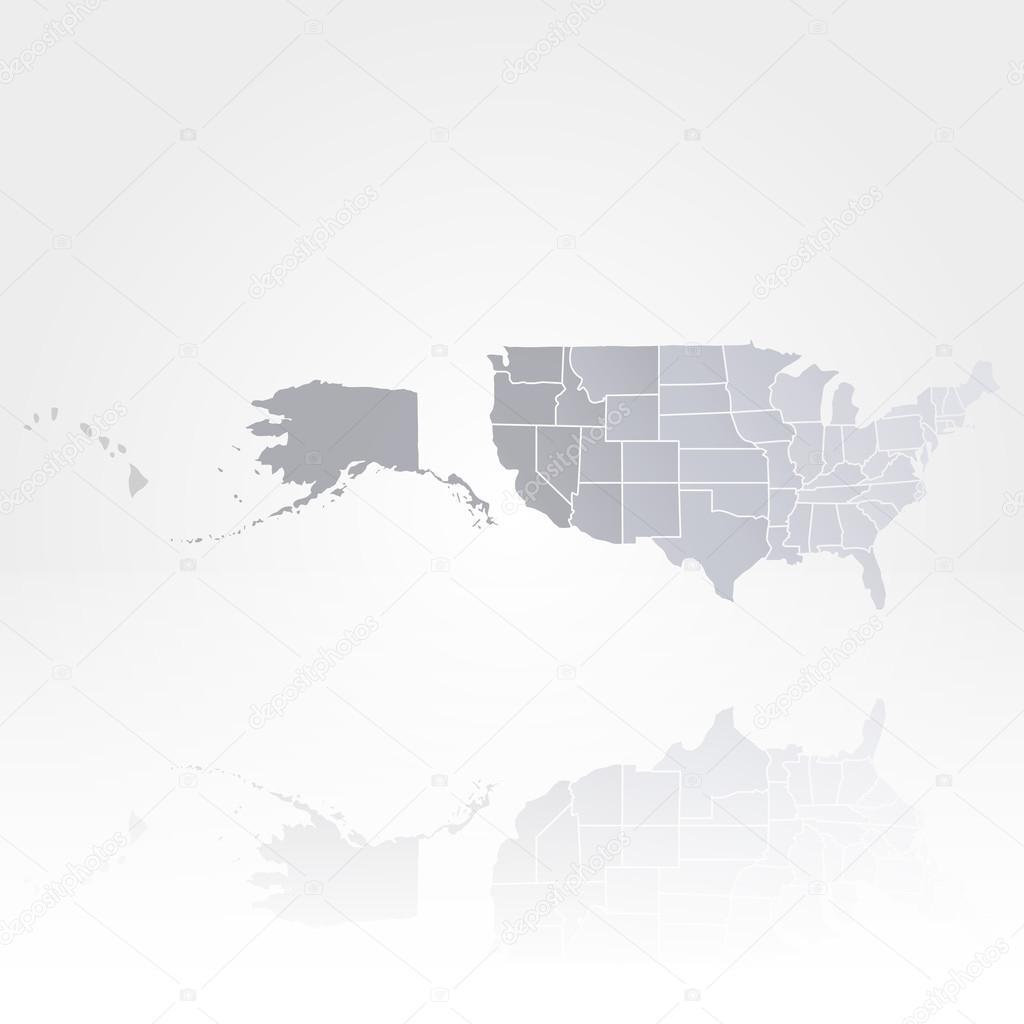美国地图背景矢量— vector