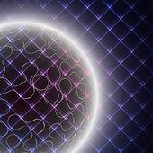 Abstract light sphere on black background vector illustration — Stock Vector