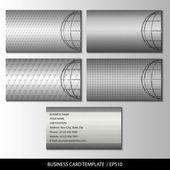Набір металеві тематичні візитна картка шаблони вектор — Stok Vektör