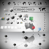 Australia map, different icons and Information graphics, infographic vector illustration — Vector de stock