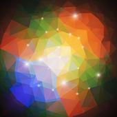 Abstract background, triangle design vector — Vector de stock