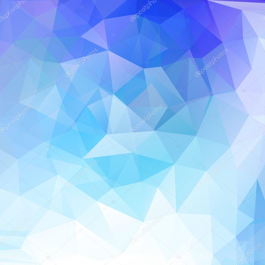 蓝色三角形矢量 illusttration 抽象几何背景