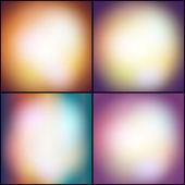 Zestaw streszczenie tło wielobarwny, niewyraźne lights wektorowych ilustracji. — Wektor stockowy