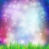 Abstract background with grass vector illustration. Vector design for print or web — Stock Vector