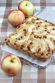 Apple Raisin Pie On The Table — Photo