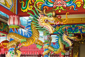 Chinese dragon sculpture in guanyu shrine — Photo